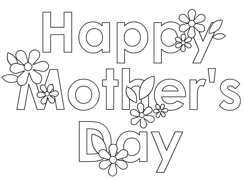 Happy Mothers Day Coloring Pages  Colouring  Pinterest  Happy