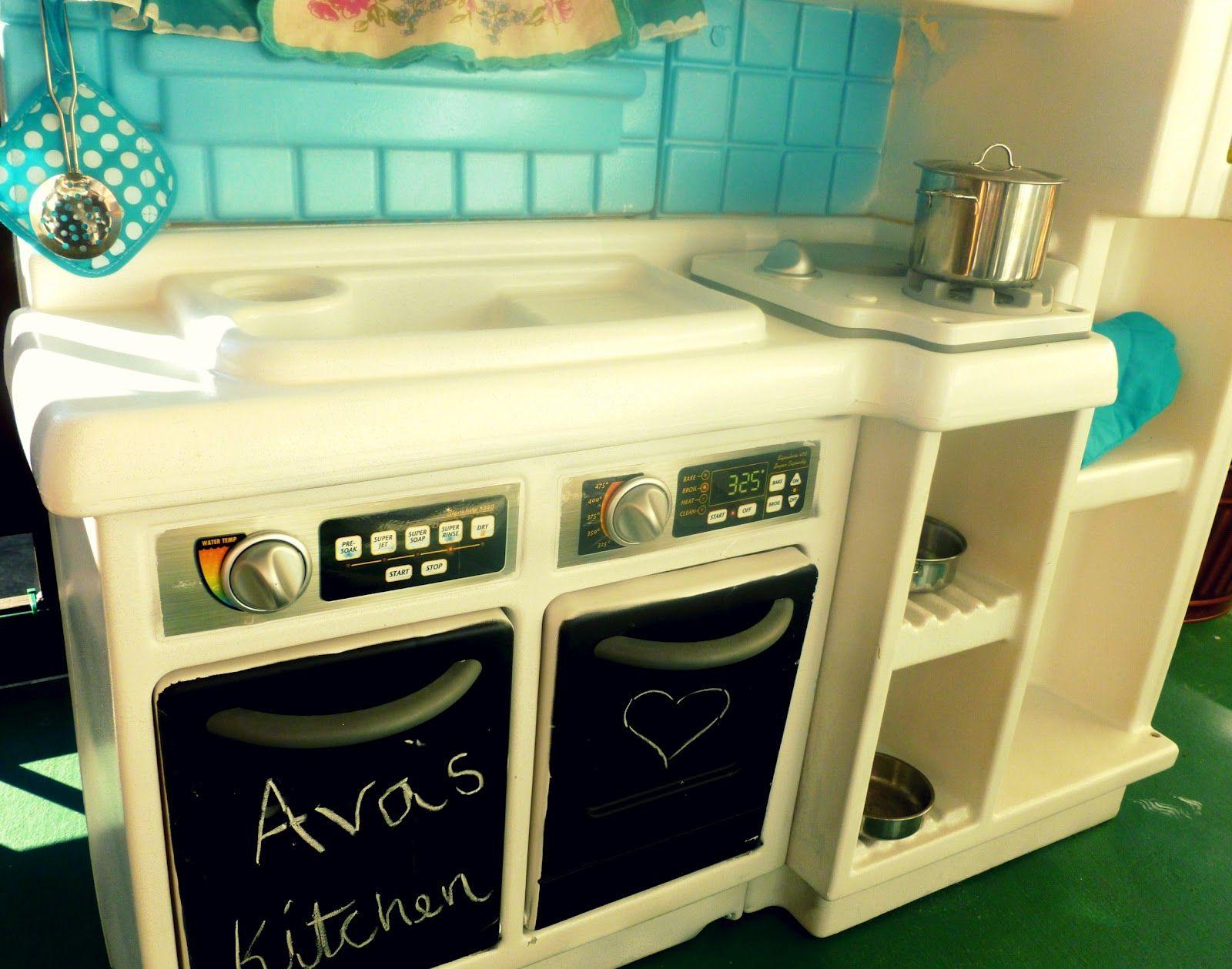 Ava's New Kitchen Diy play kitchen, Play kitchen, Diy