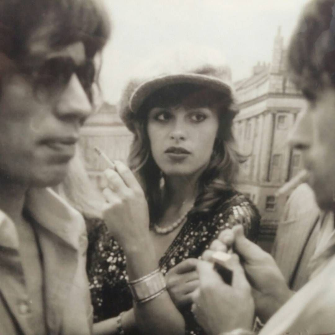 Mick Jagger Keith Richards And Uschi Obermaier The Rolling Stones