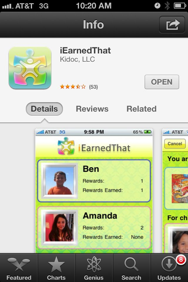 """""""iEarnedThat"""" Another great app my kids love. This is a"""