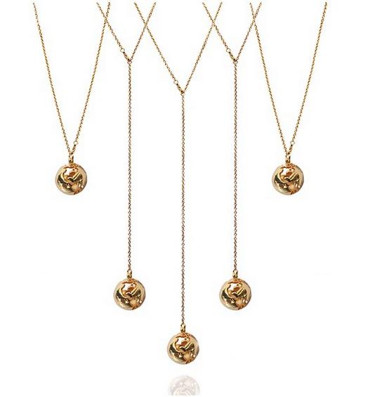 The Globe Pendant, 3 ways of wearing it // Cristina Ramella Jewerly