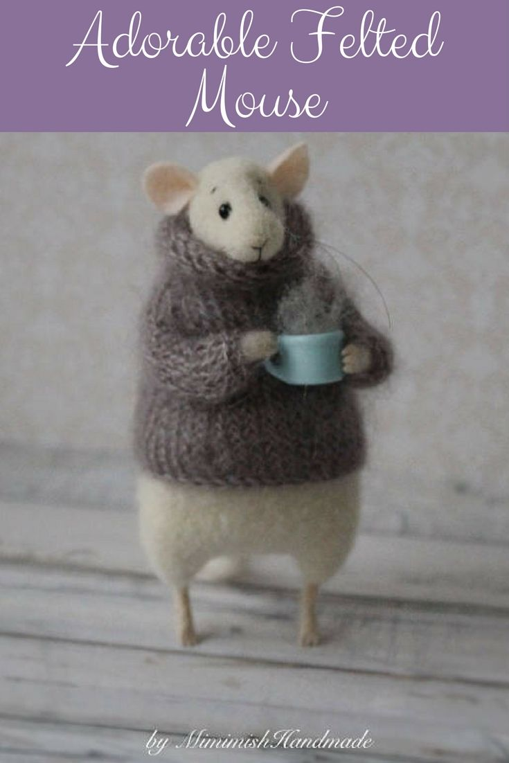 Car hanging soft toys  Soooo Cute Wool Felt Mouse This cute mouse is handmade from