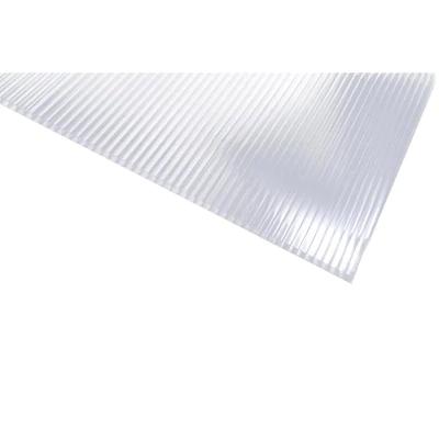 Sunlite 0 31 In T X 48 In W X 24 In L Clear Polycarbonate Sheet Lowes Com Polycarbonate Panels Polycarbonate Roof Cladding