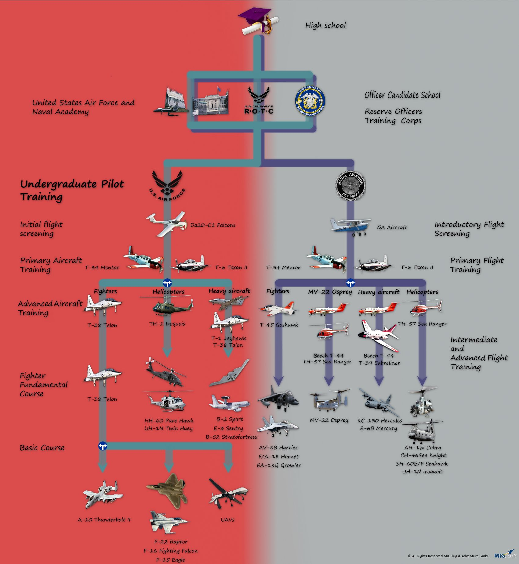 The infographic shows the three ways to a fighter