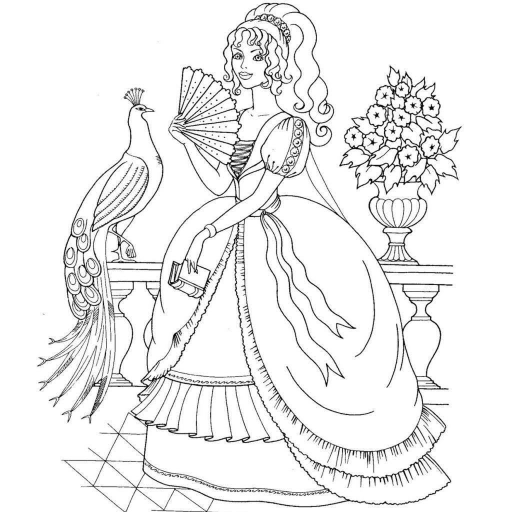 Image Result For Realistic Princess Coloring Pages For Adults I