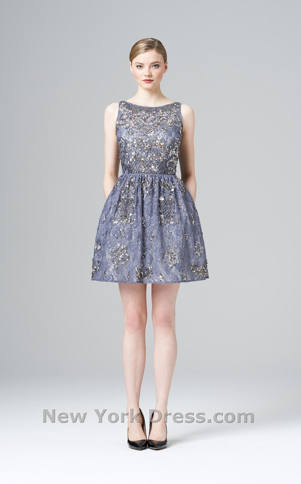 Aidan Mattox Dress 458790 | Aidan mattox, Lace detail and Illusions