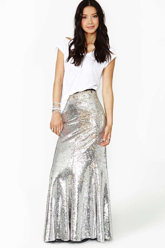 Stardust Sequin Maxi Skirt