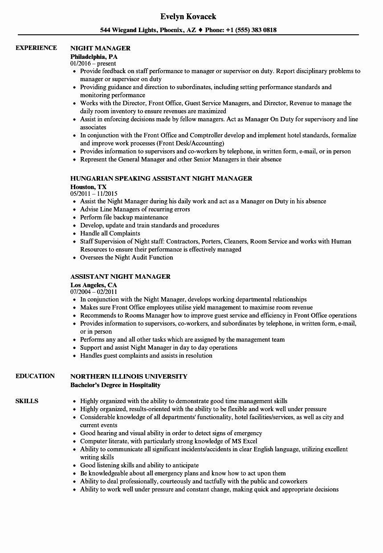 Stocking Job Description Resume Lovely Night Manager Resume Samples Job Description Job Description Template Resume