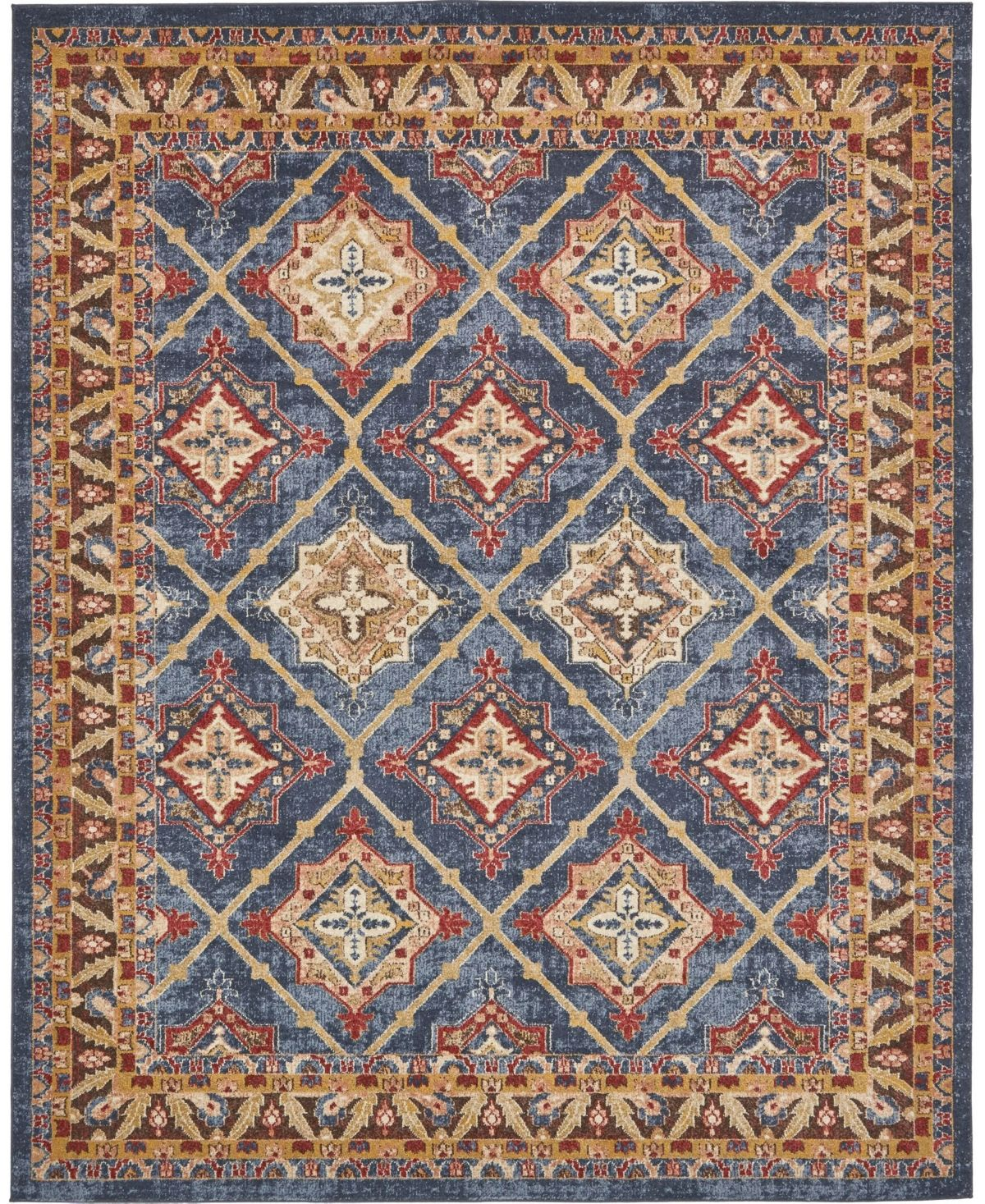 Bridgeport Home Shangri Shg1 Light Blue 8 X 10 Area Rug