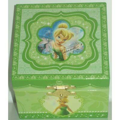 Disney Trinket Box Tinker Bell Musical Jewelry Box Musical