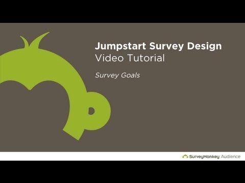 Survey Design Tutorial Part 1 Choosing A Survey Goal Youtube