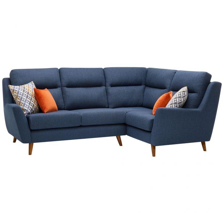 Blue Fabric Sofas - Corner Sofa Left Hand - Fraser Range ...