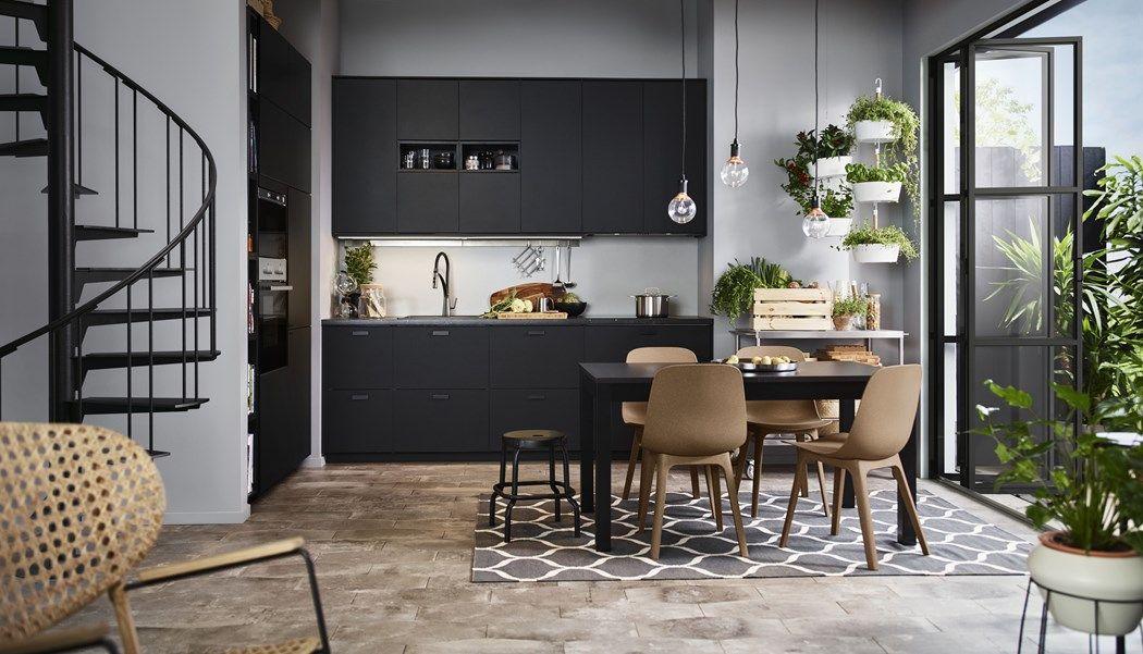 Mała Czarna Kuchnia Ikea Loft Ikea Kitchen Cuisine Ikea