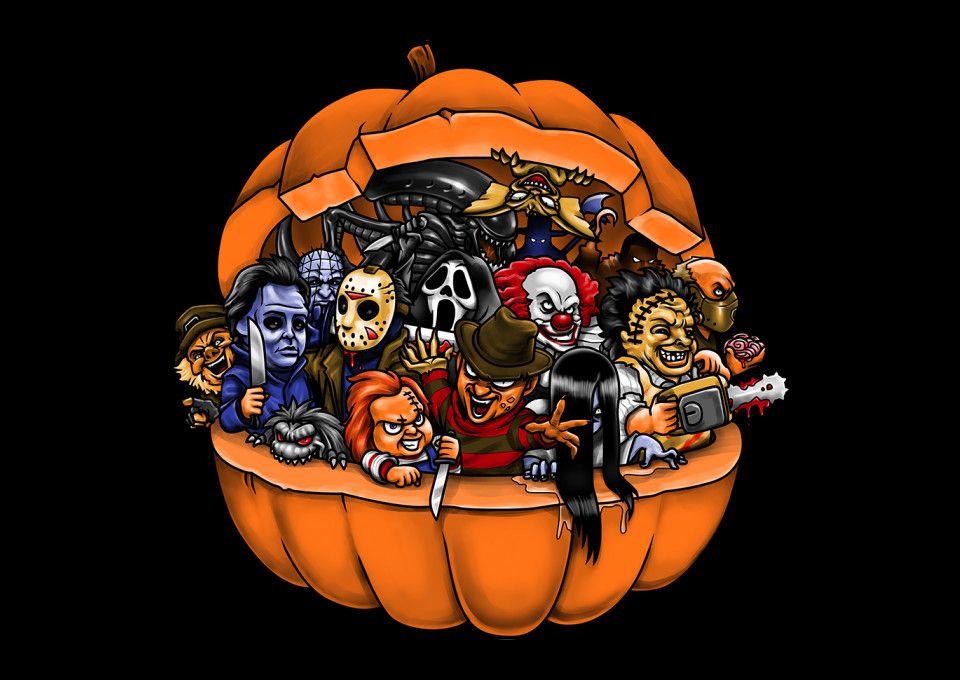 Halloween horror movie mashup tshirt halloween horror