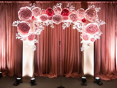 Ahhh-mazing paper flower wedding ceremony arch! Big Day Service, San Francisco Wedding Planner.