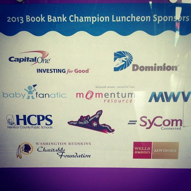 Baby Fanatic was one of the 2013 Book Bank Champion Luncheon Sponsors!
