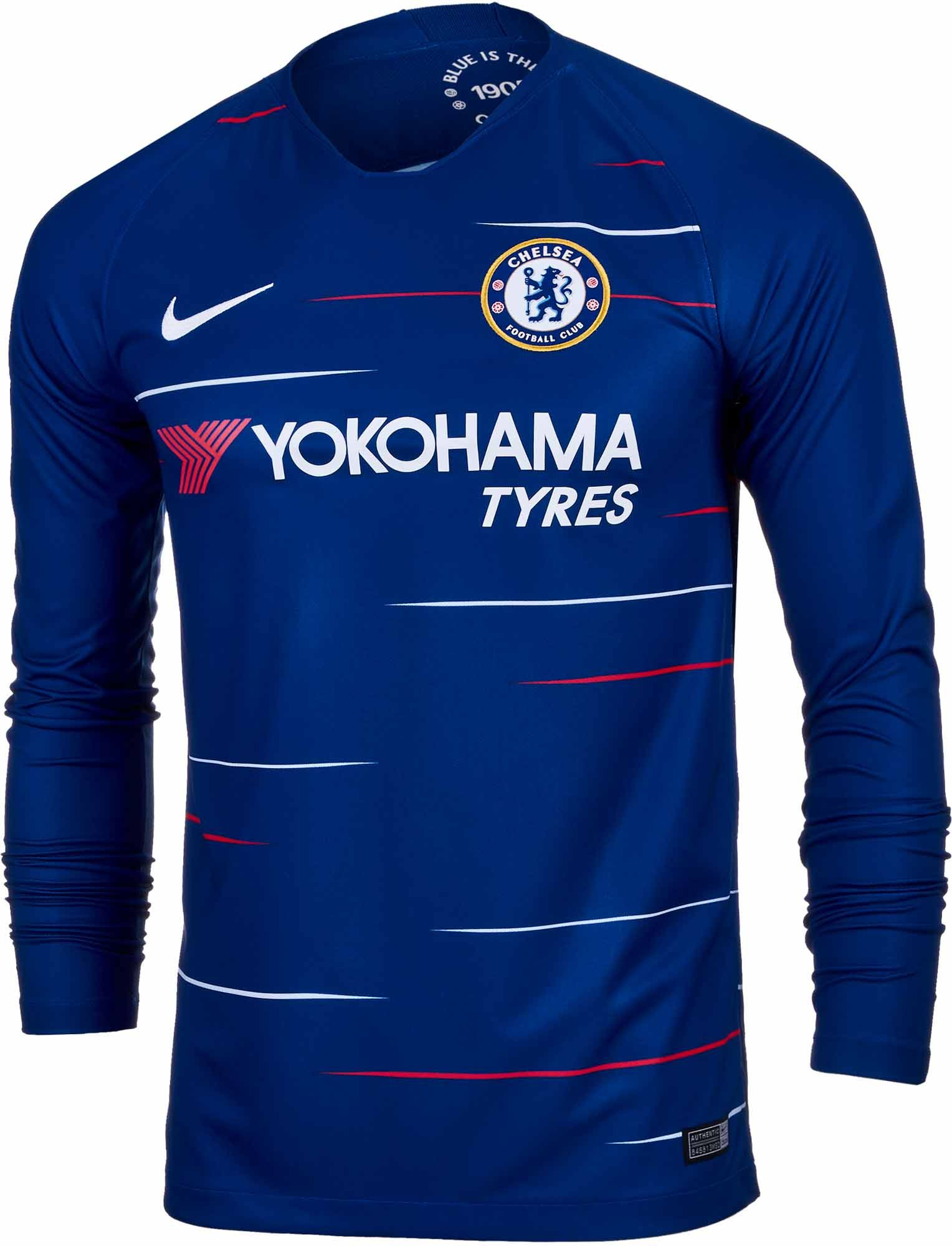 80aef4fa3 2018 19 adidas Chelsea FC L S Home Jersey. Hot at soccerpro.com right now.  Get yours today.