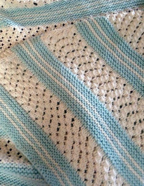Easy Baby Blanket Knitting Patterns Knit For Kids Pinterest