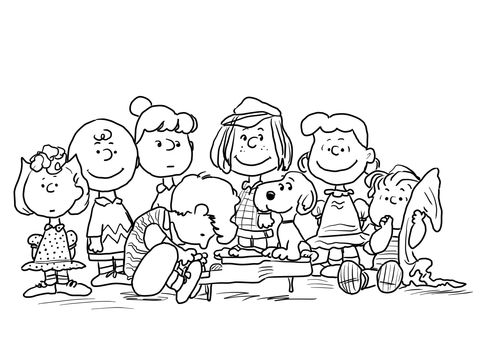 Peanuts Characters Coloring Page From Peanuts Category Select From 24104 Printable Cr Thanksgiving Coloring Pages Cartoon Coloring Pages Snoopy Coloring Pages