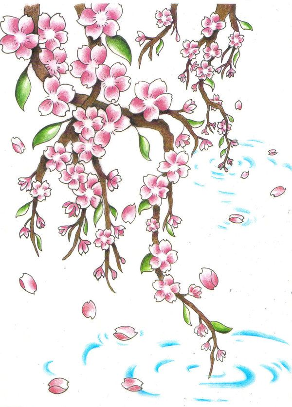 Cherry Blossom Remix By Jen Van On Deviantart Blossom Tree Tattoo Cherry Tree Tattoos Cherry Blossom Tattoo