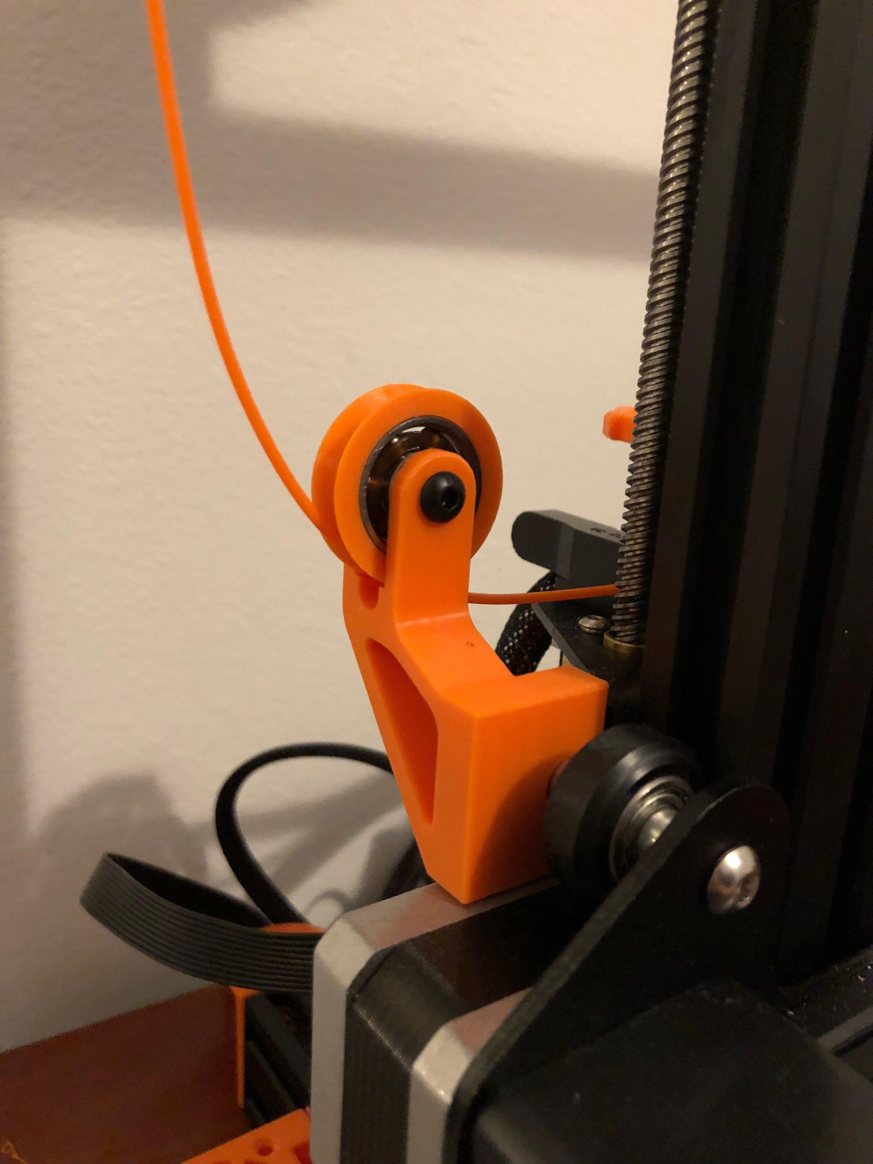 Ender 3 Filamentrollenfuhrung Von Holspeed Thingiverse 3d Printing Diy 3d Printer 3d Printer Designs