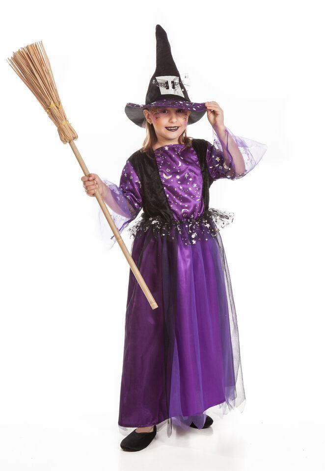 DisfracesMimo, disfraz de bruja morada para niña 3 a 4 años.este ...