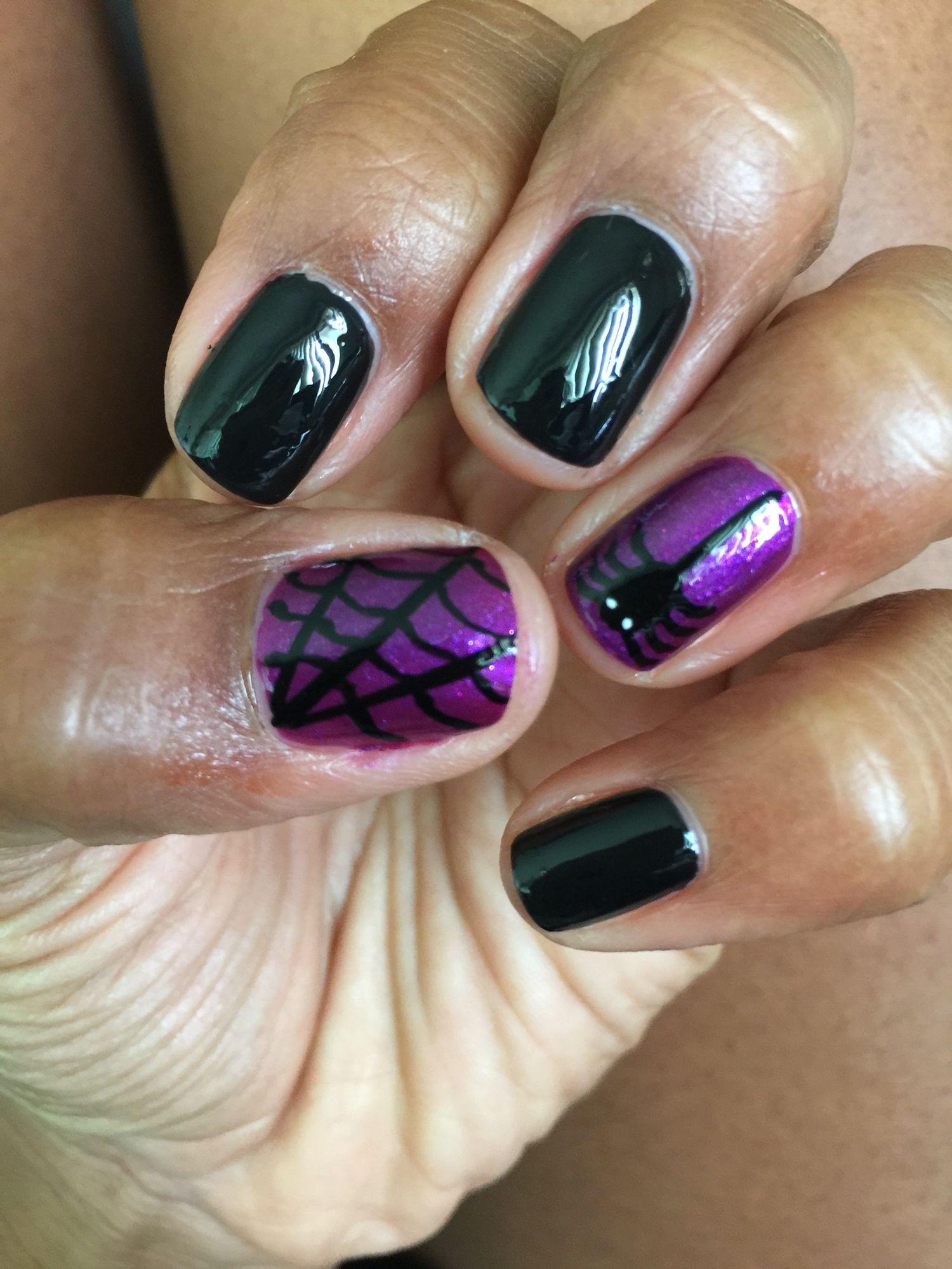 Halloween spider web nails | Nails, Nail designs ...