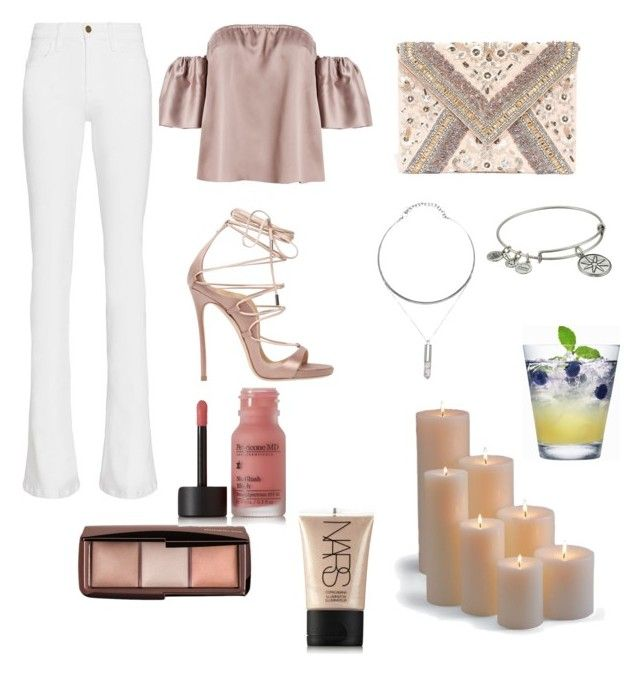 """Untitled #88"" by oksankilc on Polyvore featuring Frame Denim, Dsquared2, LULUS, Perricone MD, Alex and Ani, NARS Cosmetics and Frontgate"