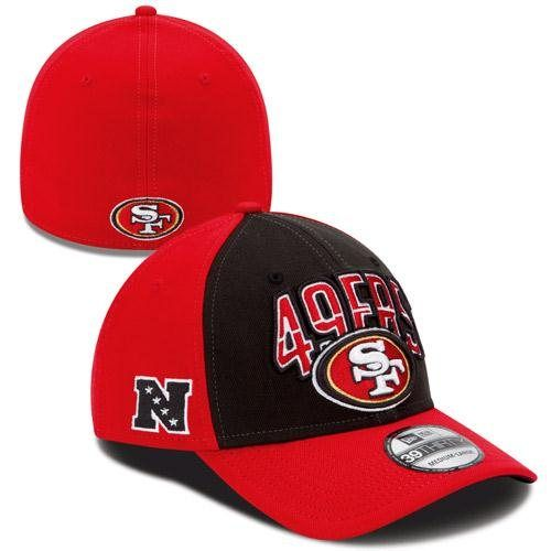New Era San Francisco 49ers 2013 NFL Draft 39THIRTY Flex Hat - Scarlet Black 084dd2f43
