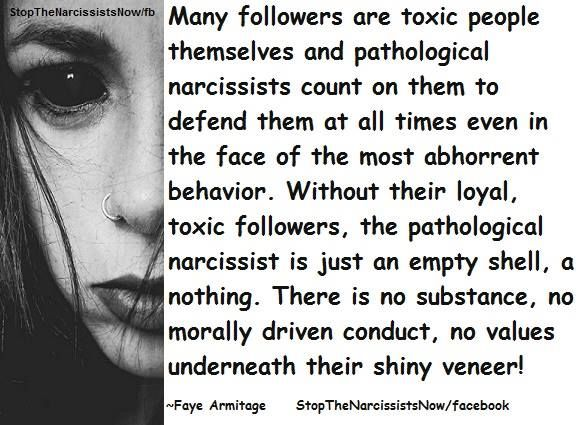 Narcissists are nothing without the weak, desperate pathetic