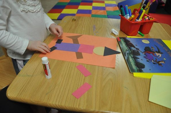 Kinder Garden: Halloween Witch Shape Craft To Go Along With The Book Room