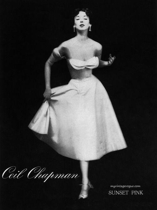 Dorian Leigh, vintage models, Ceil Chapman 1950s   Vintage