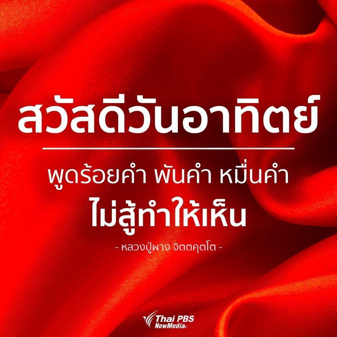 Thai Pbs ไทยพ บ เอส On Instagram สว สด ว นอาท ตย พ ดร อยคำ พ นคำ หม นคำ ไม ส ทำให เห น หลวงป ผาง จ ตตค คำคม คำคมสร างแรงบ นดาลใจ ส ขส นต ว นอาท ตย