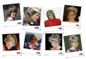 le acconciature di Lady Diana dal 1980 al 1997