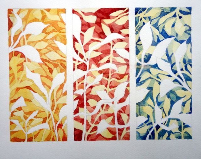 Negative Painting Leaves By Catie In 2020 Watercolor Negative