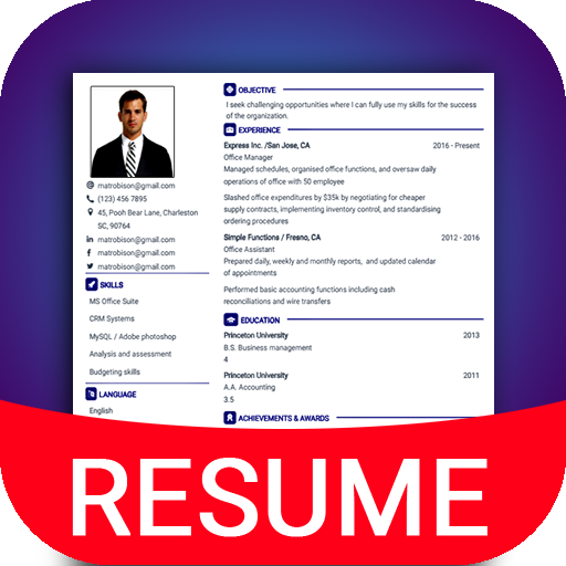 Pin on free resume builder India