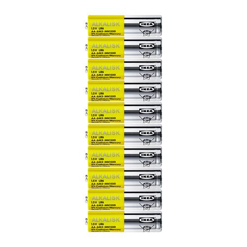 Alkalisk Alkaline Battery Lr6 Aa 1 5v Ikea Alkaline Battery Ikea Batteries