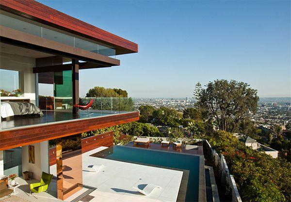 Hollywood Hills Contemporary Home Sunset Plaza Villa Villas