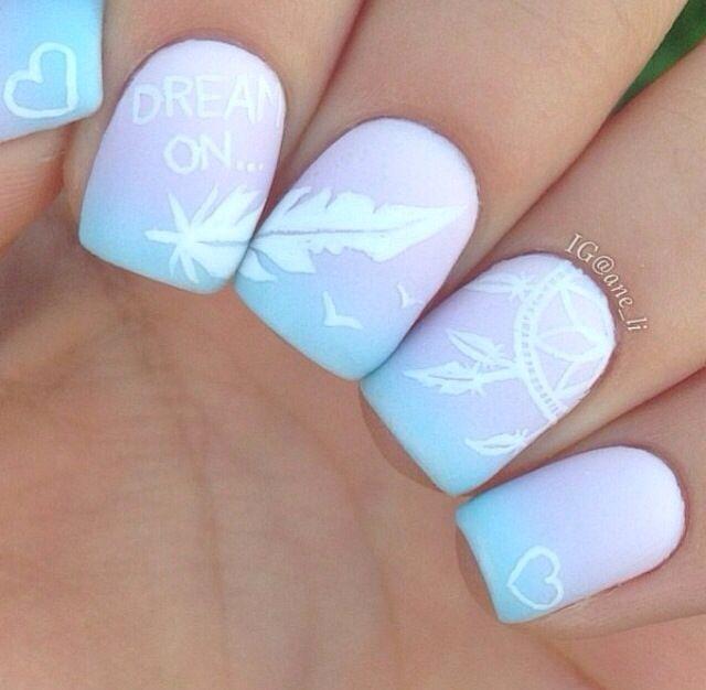Difuminado Colores Pastel Nails Pinterest Nail Art Nails Y