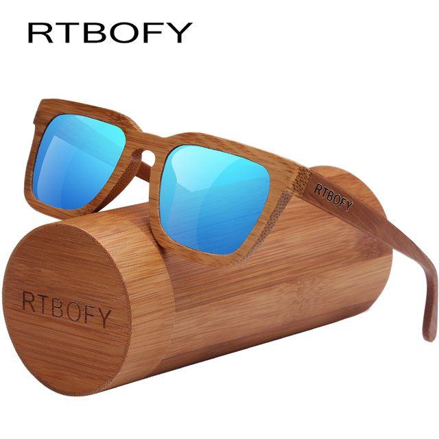 e5df881eca0f0 RTBOFY Wood Sunglasses Women Bamboo Frame Eyeglasses Polarized Lenses  Glasses Vintage Design Shades UV400 Protection Eyewear