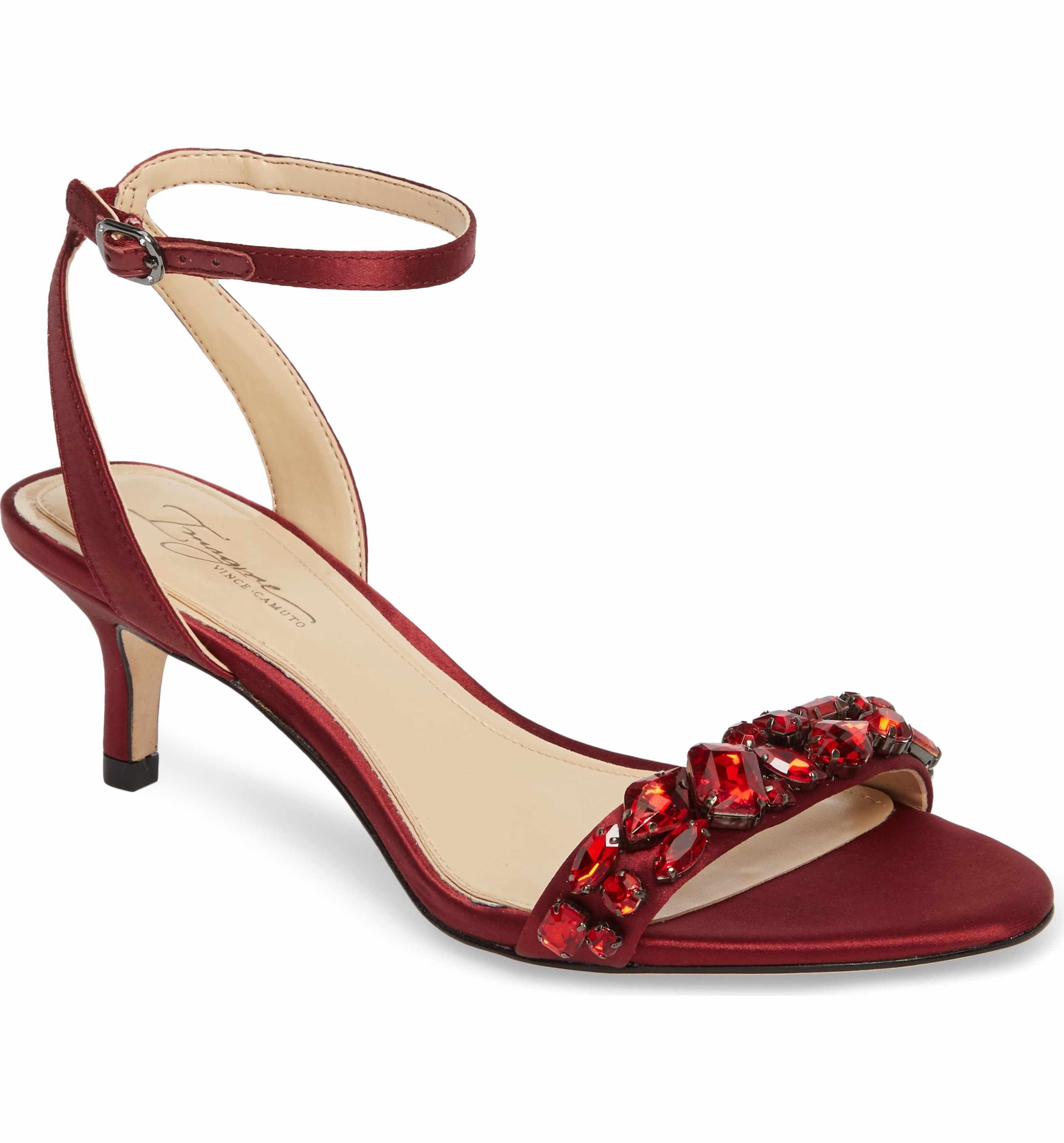 Vince Camuto Women's Imagine Vince Camuto Kolo Embellished Kitten Heel Sandal B4qCf19LZH