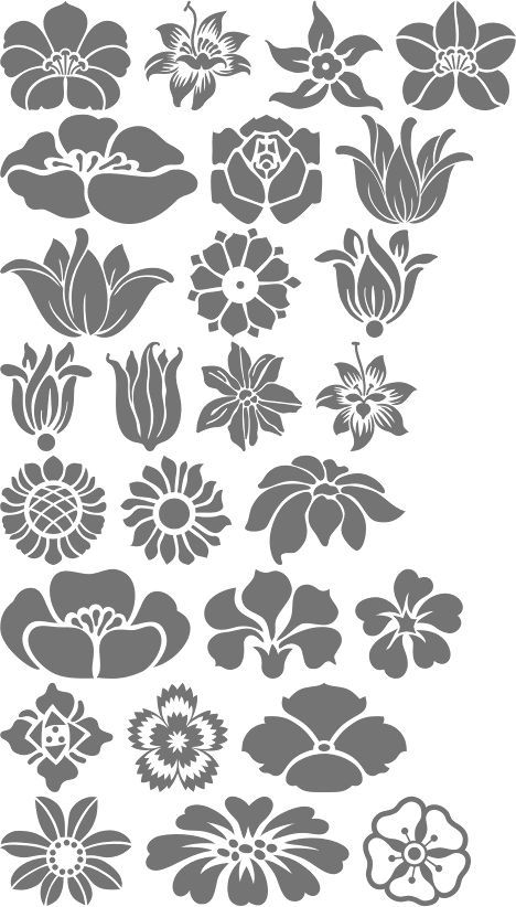A4 MYLAR STENCILS  CRAFTS TEMPLATES SCRAPBOOKING FLORAL ART DECO COLLECTION 2