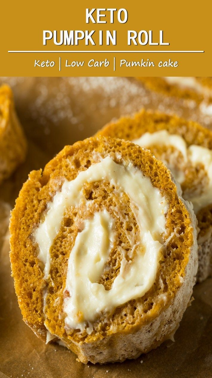 Keto Pumpkin Roll - More Than Lifestyle #ketodesserts