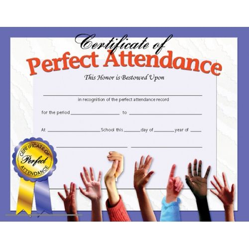 Certificate of perfect attendance reward your students for their certificate of perfect attendance reward your students for their special achievements yelopaper Gallery