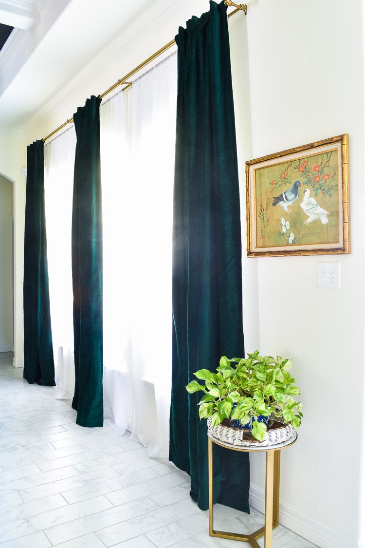 The Best Emerald Green Velvet Curtain Panels Green Curtains