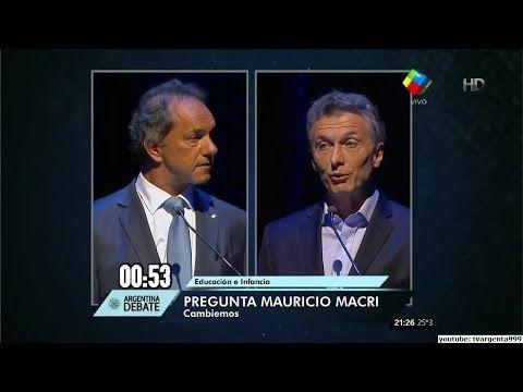 Macri Scioli - Debate Completo HD ( 15 de Noviembre de 2015 ) - YouTube