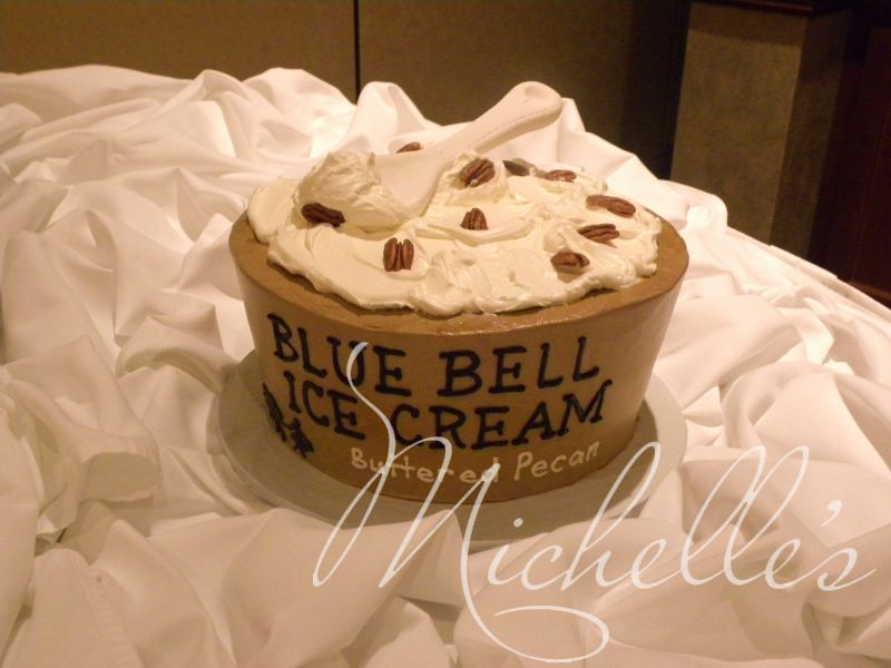 Blue Bell Ice Cream Grooms CakeRyan Would Love This