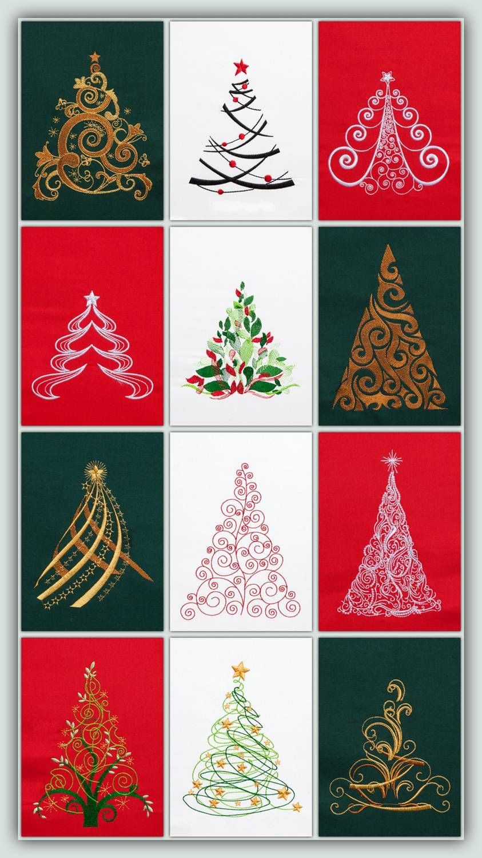 BFC1272 O Christmas Trees | Pinterest | Machine embroidery ...