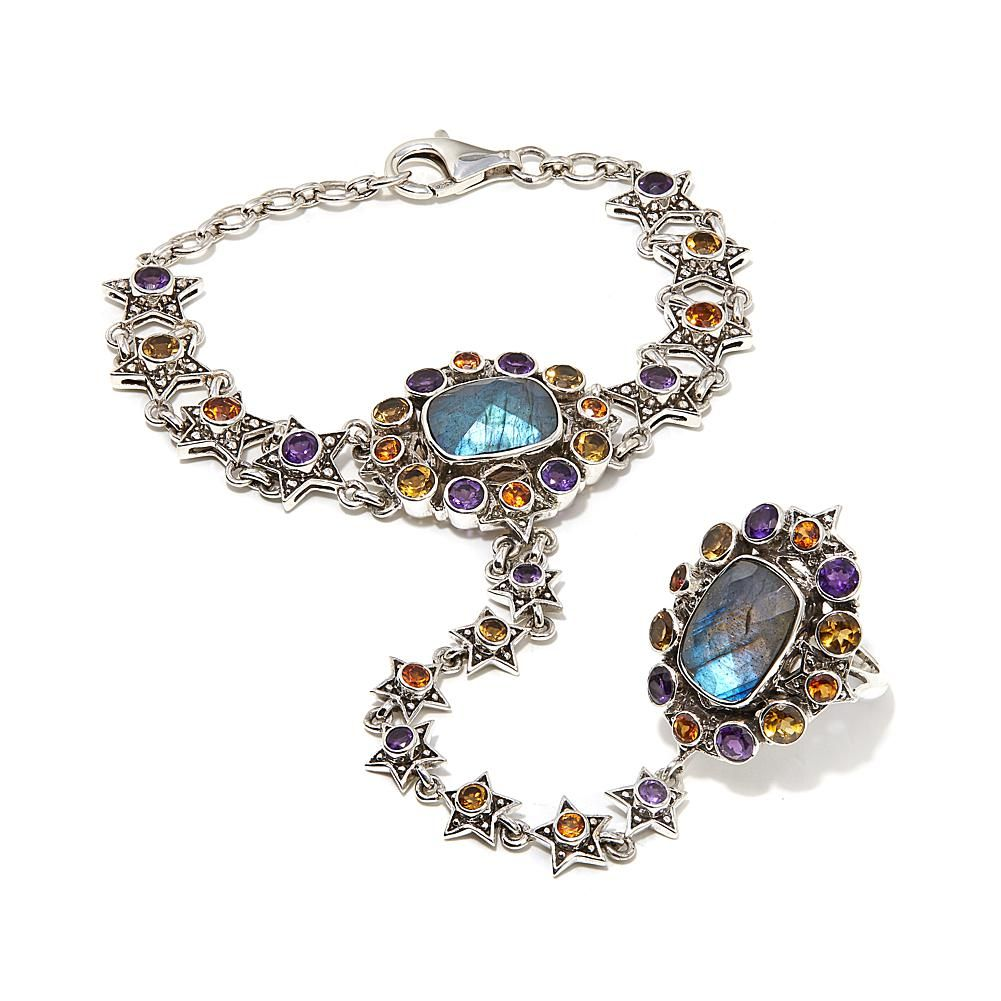 0a4ce7df0bd2de Nicky Butler 18.40ctw Labradorite and Multigemstone Sterling Silver