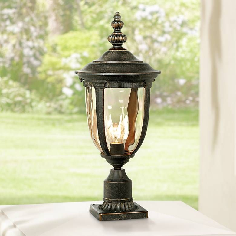 Bellagio Collection 21 High Bronze Outdoor Post Light 40386 Lamps Plus Outdoor Post Lights Post Lights Lamp Post Lights